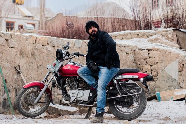 Motorrijden winter